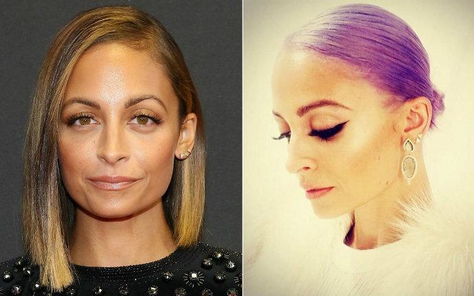 nicole-richie-purple-hair  The latest celebrity hair transformations nicole richie purple hair