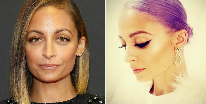 nicole-richie-purple-hair  The latest celebrity hair transformations nicole richie purple hair1