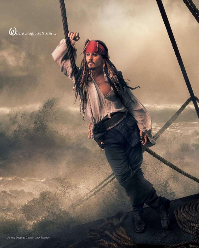 Johnny-Deep-as-Jack-Sparrow-Disney-Characters-Fashion-Design-Weeks