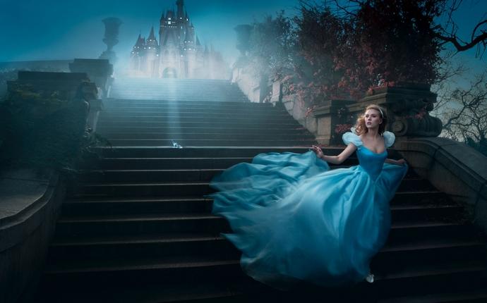 Scarlett-Johansson-as-Cinderella-Disney-Characters-Fashion-Design-Weeks