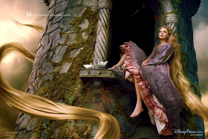 Taylor-Swift-as-Rapunzel-Disney-Characters-Fashion-Design-Weeks