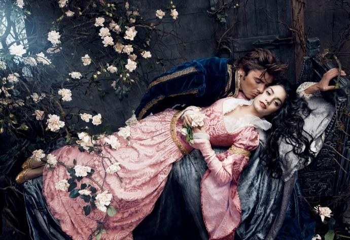 Zac-Efron-and-Vanessa-Hudgens-Sleeping-Beauty-Disney-Characters-Fashion-Design-Weeks