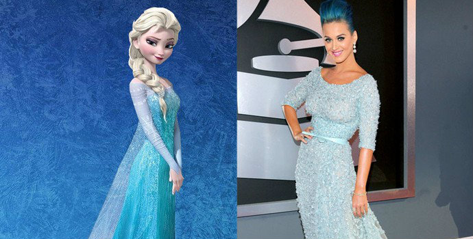 Celebrities with Disney Princess Style Celebrity with Princess Style Katy Perry Fashion Design Weeks1