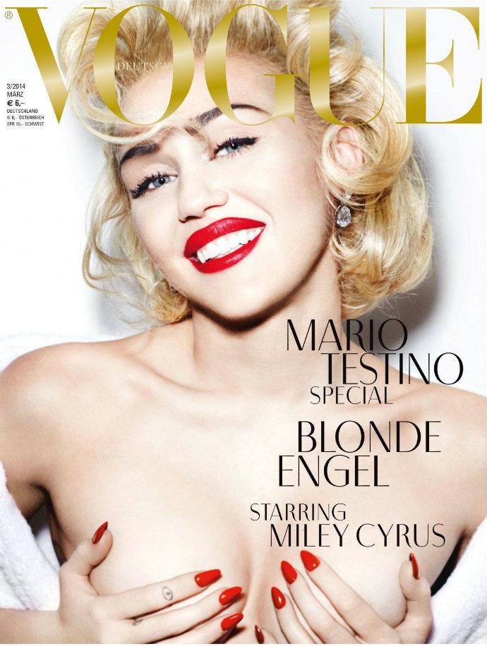 Fashion-Design-Weeks-Celebrity-Vogue-Covers-Miley-Cyrus  Celebrity Vogue Covers Fashion Design Weeks Celebrity Vogue Covers Miley Cyrus