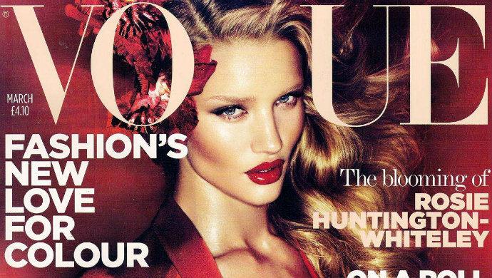 Celebrity Vogue Covers Fashion Design Weeks Celebrity Vogue Covers Rosie Huntington Whiteley1