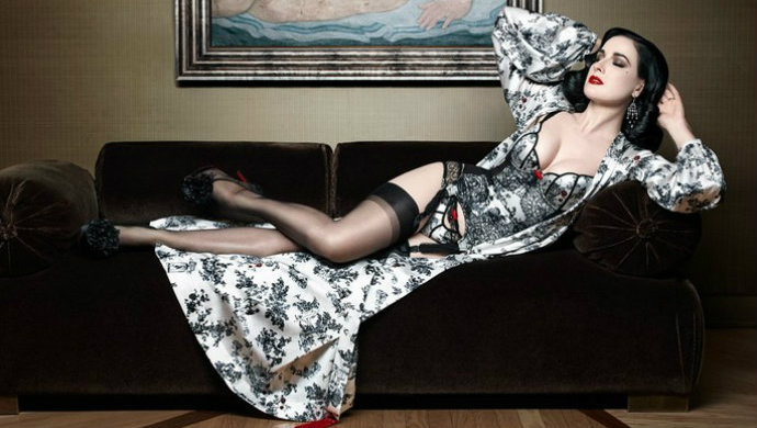 Dita-Von-Teese-launches-a-lingerie-line-with-Christian-Louboutin