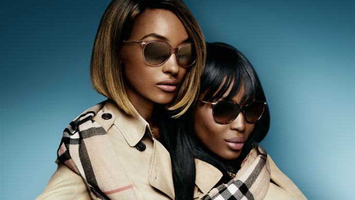 Jourdan Dunn and Naomi Campbell for Burberry  Jourdan Dunn and Naomi Campbell for Burberry Eyewear 6
